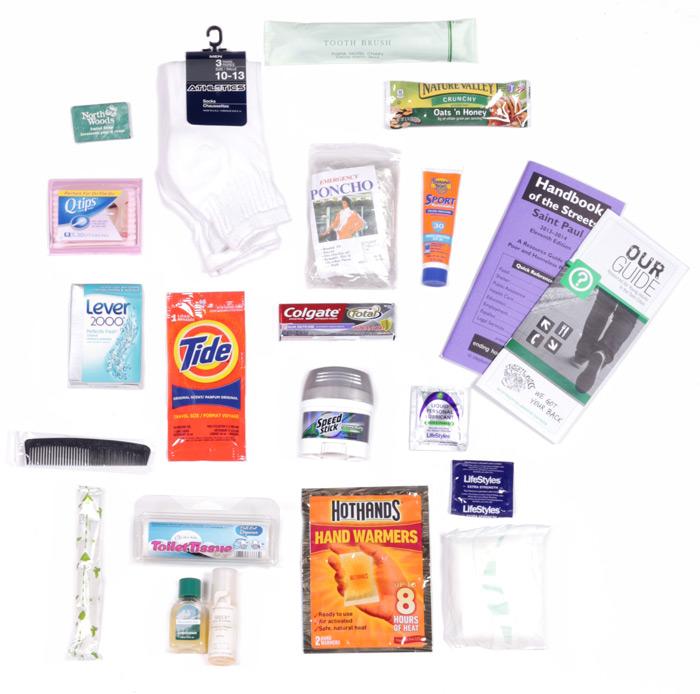 supplies for homeless outreach